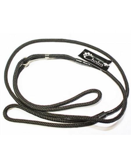 CHABA Smycz ringówka - 8mm czarna