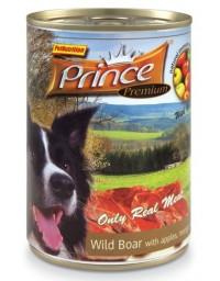 Prince Premium Dog Dzik, jabłka, mango puszka 400g