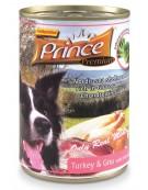 Prince Premium Dog Indyk, gnu, brokuły puszka 400g