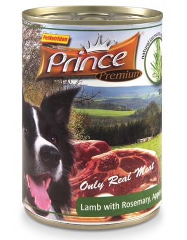 Prince Premium Dog Jagnięcina, rozmaryn, jabłka puszka 400g
