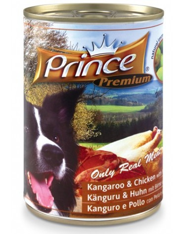 Prince Premium Dog Kangur, kurczak puszka 400g