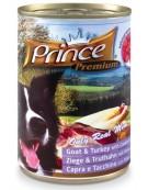 Prince Premium Dog Koza, indyk puszka 400g