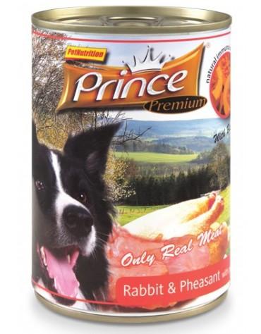 Prince Premium Dog Królik, kuropatwa, dynia puszka 400g