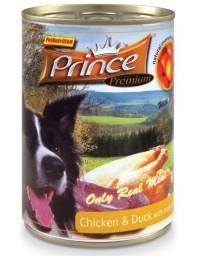 Prince Premium Dog Kurczak, kaczka, mandarynka puszka 400g