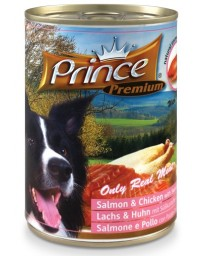 Prince Premium Dog Łosoś, kurczak puszka 400g