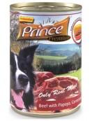 Prince Premium Dog Wołowina, papaja, marchew puszka 400g