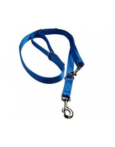CHABA Smycz taśma regulowana - 20mm x 130/260cm niebieska