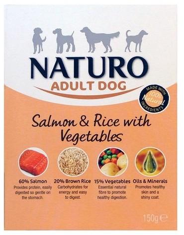 Naturo Adult Łosoś z ryżem i warzywami 150g