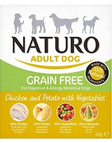Naturo Grain Free Kurczak, ziemniaki i warzywa 400g
