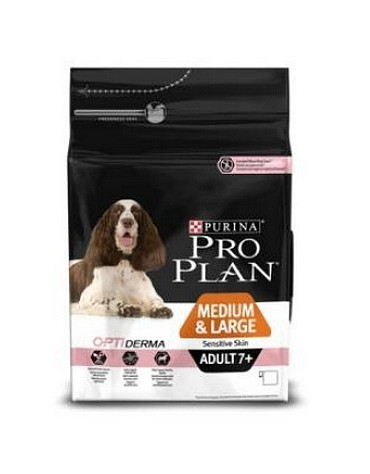 Purina Pro Plan Adult 7+ Medium & Large OptiDerma Sensitive Skin 14kg