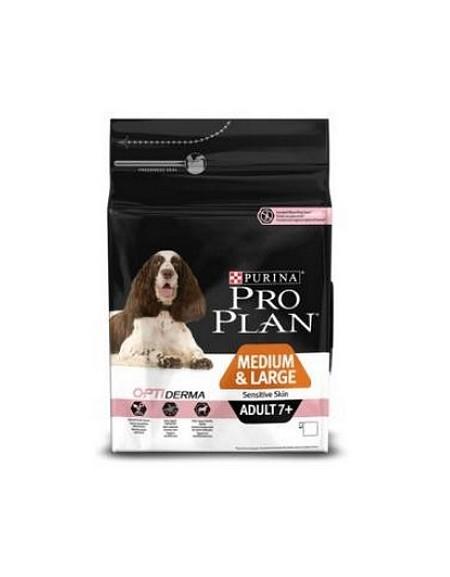 Purina Pro Plan Adult 7+ Medium & Large OptiDerma Sensitive Skin 14kg