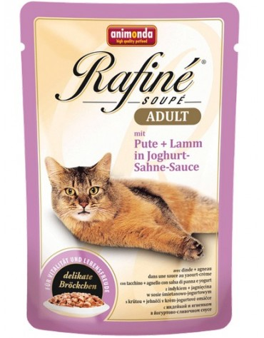 Animonda Rafiné Adult Indyk + Jagnię w sosie jogurtowym saszetka 100g