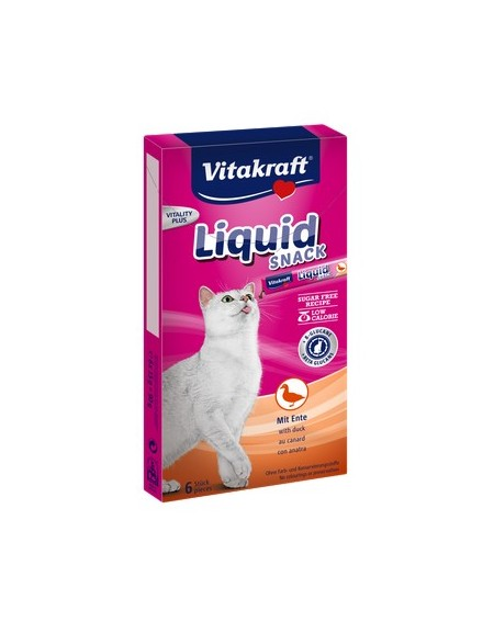 Vitakraft Cat Liquid-Snack z Kaczką 6x15g [23520]