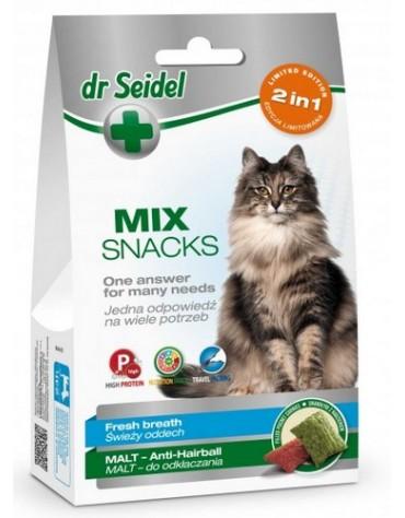 Dr Seidel Smakołyki dla kotów 2w1 malt/oddech 60g