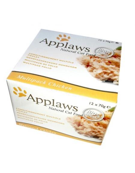 Applaws puszki dla kota Multipak Chicken 12x70g