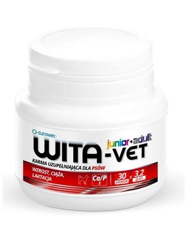 Wita-Vet Junior+Adult CA/P 2  3,2g 30tabl. - preparat witaminowy dla ciężarnych suk i szczeniąt