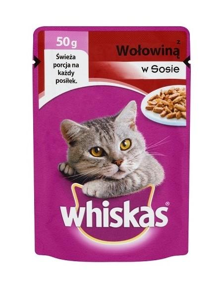 Whiskas Mini Wołowina sos 50g