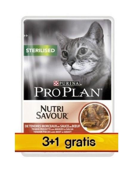 Purina Pro Plan Cat Sterilised wołowina saszetka 4x85g 3+1 gratis