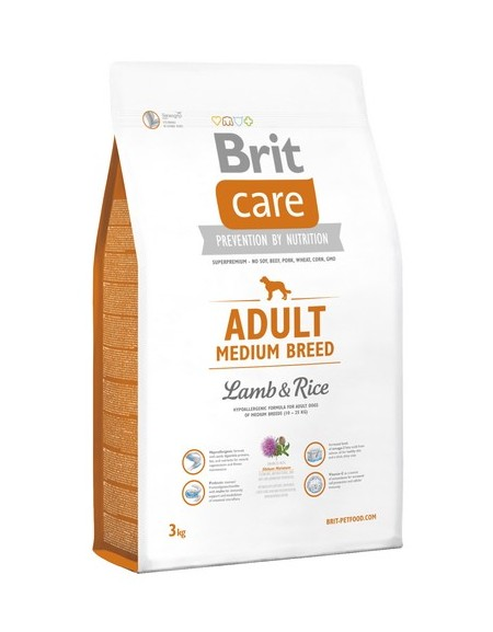 Brit Care New Adult Medium Breed Lamb & Rice 3kg