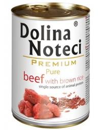 Dolina Noteci Premium Pies Pure Wołowina i ryż puszka 400g