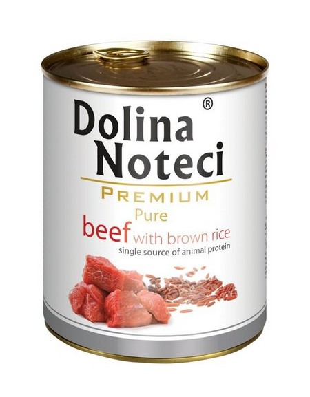 Dolina Noteci Premium Pies Pure Wołowina i ryż puszka 800g