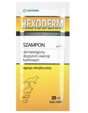 Hexoderm - szampon dermatologiczny dla gryzoni saszetka 20ml - 1 sztuka