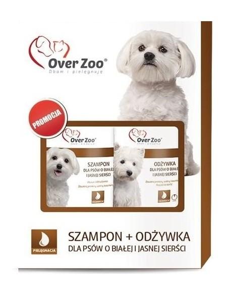 Over Zoo Dwupak Szampon + Odżywka dla białej sierści