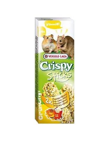 Versele-Laga Crispy Sticks Hamster & Rat Popcorn & Honey - kolby dla chomików i szczurów z popcornem i miodem 110g