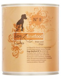 Dogz Finefood N.08 Indyk i koza puszka 800g