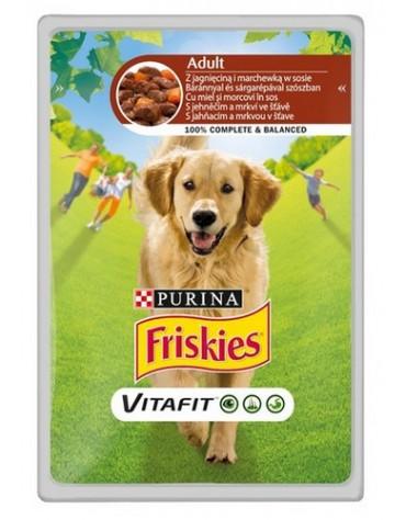 Friskies Dog Adult Jagnięcina i marchewka w sosie saszetka 100g