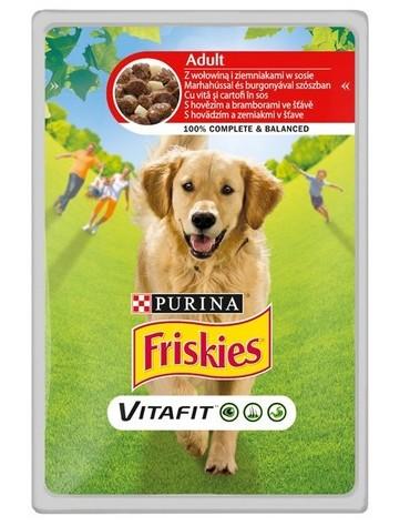 Friskies Dog Adult Wołowina i marchewka w galaretce saszetka 100g