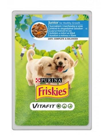 Friskies Dog Junior Kurczak i marchewka w sosie saszetka 100g