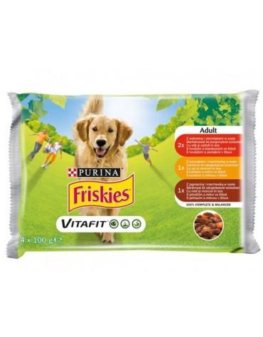 Friskies Dog Adult saszetki 4x100g