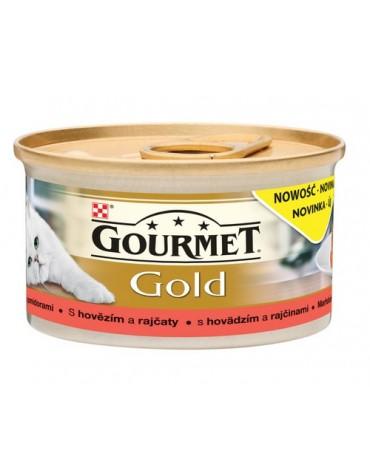 Gourmet Gold Savoury Cake z Wołowiną i pomidorami 85g