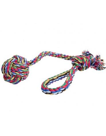 Dingo Piłka ze sznurka wielokolorowa z rączką