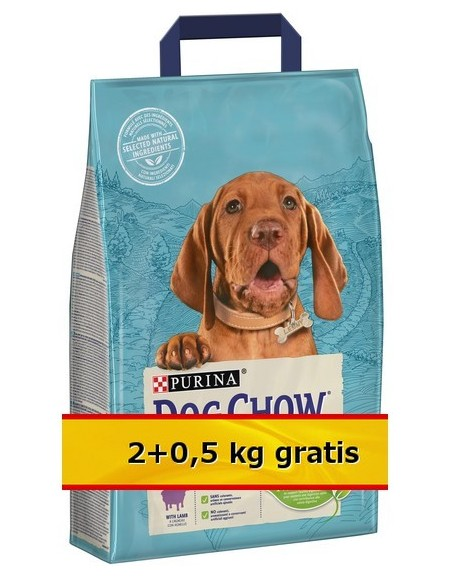 Purina Dog Chow Puppy Jagnięcina 2,5kg (2+0,5kg)