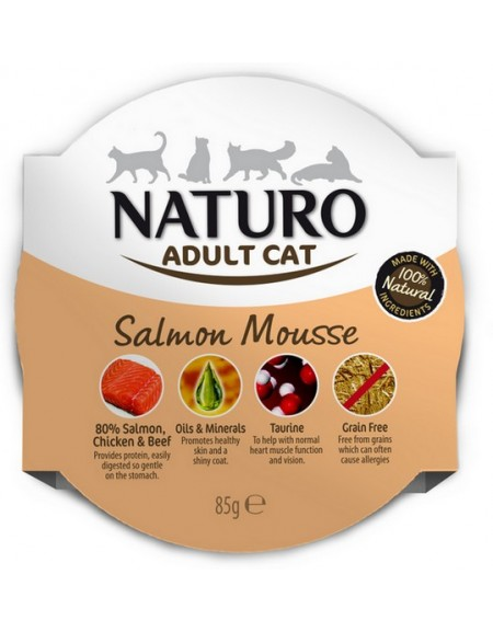 Naturo Kot Adult Łosoś tacka 85g