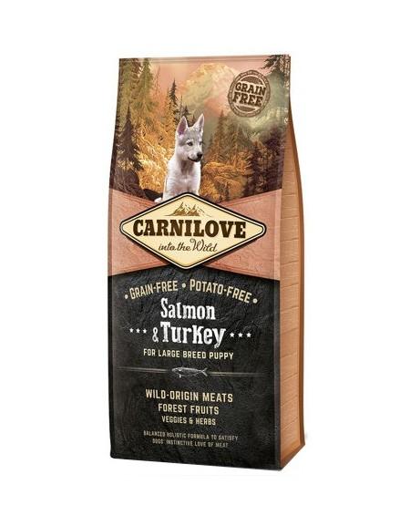 Carnilove Dog Salmon & Turkey Large Puppy - łosoś i indyk 12kg