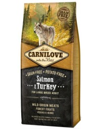 Carnilove Dog Salmon & Turkey Large Adult - łosoś i indyk 12kg