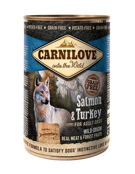 Carnilove Dog Wild Meat Salmon & Turkey Adult - łosoś i indyk puszka 400g