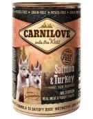 Carnilove Dog Wild Meat Salmon & Turkey Puppy - łosoś i indyk puszka 400g