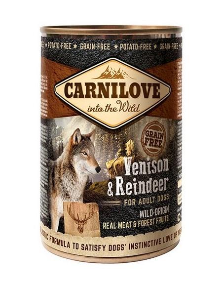 Carnilove Dog Wild Meat Venison & Reindeer Adult - dzik i renifer puszka 400g
