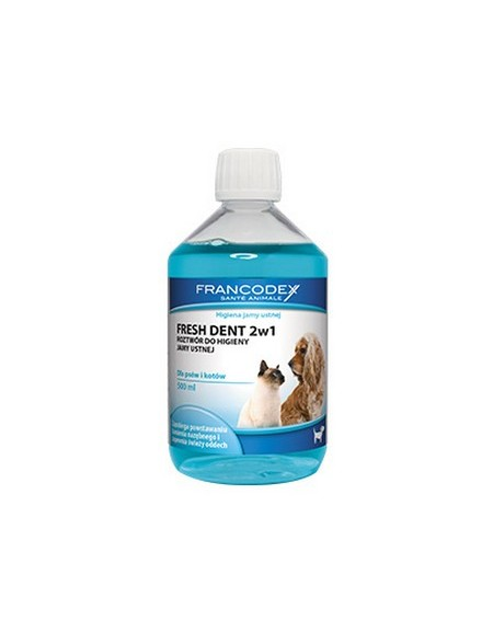 Francodex Fresh Dent płyn do higieny jamy ustnej 500ml [FR179121]