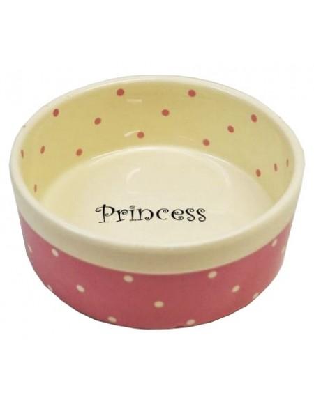Yarro/Moderna Miska ceramiczna Princess różowa 13x5,5cm [Y2722]