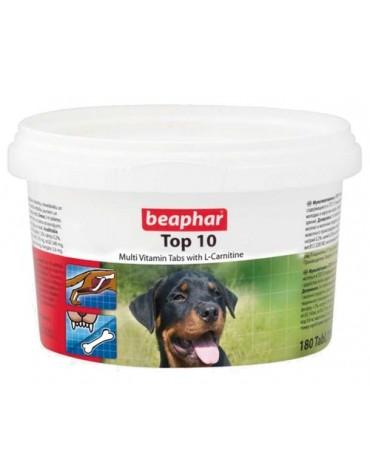 Beaphar TOP 10 Dog - preparat witaminowy z L-karnityną dla psa 180tabl.