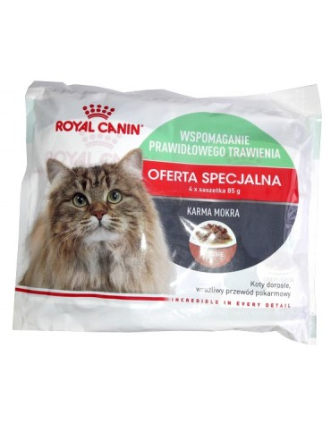 Royal Canin Digest Sensitive karma mokra w sosie dla kotów dorosłych, wrażliwy przewód pokarmowy multipak saszetki 4x85g