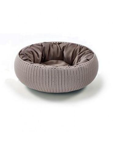 Curver Łóżko dla zwierząt Knit beżowe