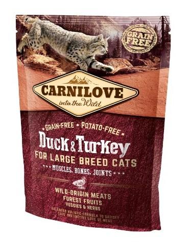 Carnilove Cat Duck & Turkey for Large Breed - kaczka i indyk 400g