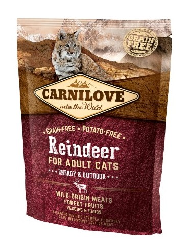 Carnilove Cat Reindeer Energy & Outdoor - renifer 400g