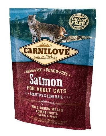 Carnilove Cat Salmon Sensitive & Long Hair - łosoś 400g